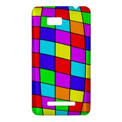 Colorful cubes HTC One SU T528W Hardshell Case