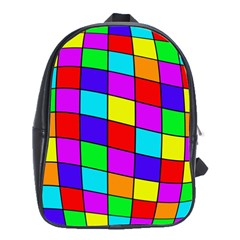 Colorful cubes School Bags (XL)