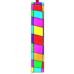 Colorful cubes Large Book Marks