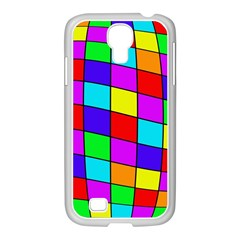 Colorful cubes Samsung GALAXY S4 I9500/ I9505 Case (White)