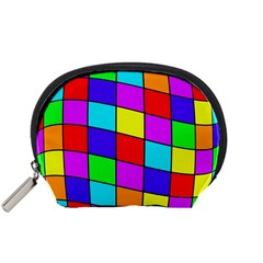 Colorful cubes Accessory Pouches (Small)