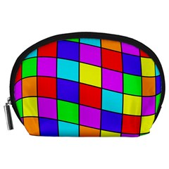 Colorful cubes Accessory Pouches (Large)