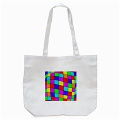 Colorful cubes Tote Bag (White)