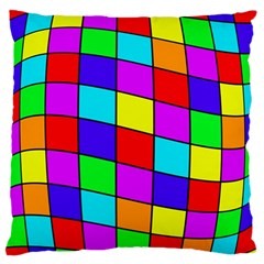 Colorful cubes Large Flano Cushion Case (Two Sides)