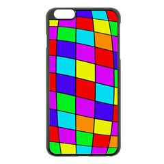 Colorful cubes Apple iPhone 6 Plus/6S Plus Black Enamel Case