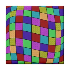 Colorful cubes  Tile Coasters