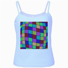 Colorful cubes  Baby Blue Spaghetti Tank