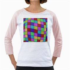 Colorful cubes  Girly Raglans