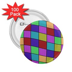 Colorful cubes  2.25  Buttons (100 pack)