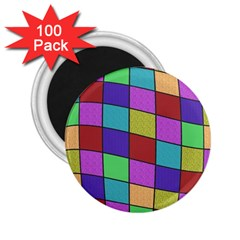 Colorful cubes  2.25  Magnets (100 pack)