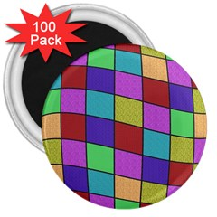 Colorful cubes  3  Magnets (100 pack)