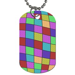 Colorful cubes  Dog Tag (One Side)