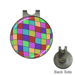 Colorful cubes  Hat Clips with Golf Markers