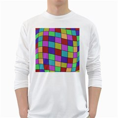 Colorful cubes  White Long Sleeve T-Shirts