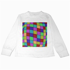 Colorful cubes  Kids Long Sleeve T-Shirts