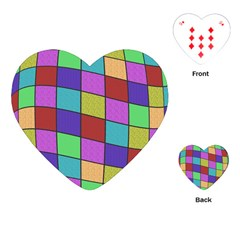 Colorful cubes  Playing Cards (Heart)