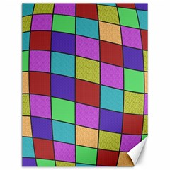 Colorful cubes  Canvas 12  x 16