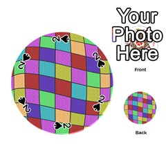 Colorful cubes  Playing Cards 54 (Round)