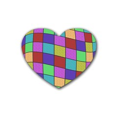 Colorful cubes  Heart Coaster (4 pack)