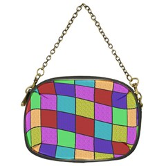 Colorful cubes  Chain Purses (One Side)