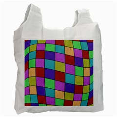 Colorful cubes  Recycle Bag (One Side)
