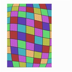 Colorful cubes  Large Garden Flag (Two Sides)