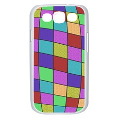 Colorful cubes  Samsung Galaxy S III Case (White)