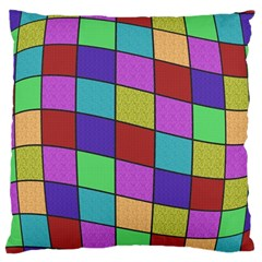 Colorful cubes  Large Cushion Case (Two Sides)