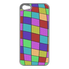 Colorful cubes  Apple iPhone 5 Case (Silver)