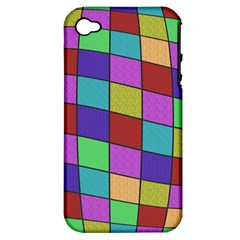 Colorful cubes  Apple iPhone 4/4S Hardshell Case (PC+Silicone)