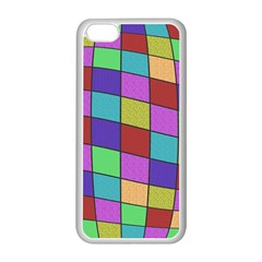Colorful cubes  Apple iPhone 5C Seamless Case (White)