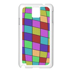 Colorful cubes  Samsung Galaxy Note 3 N9005 Case (White)