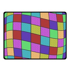 Colorful cubes  Double Sided Fleece Blanket (Small)