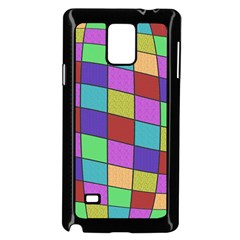 Colorful cubes  Samsung Galaxy Note 4 Case (Black)