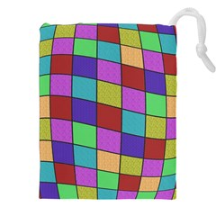Colorful Cubes  Drawstring Pouches (xxl)