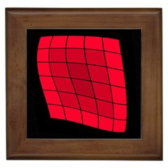 Red abstraction Framed Tiles