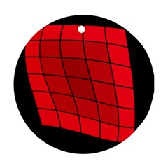 Red abstraction Ornament (Round)