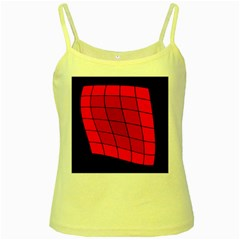 Red abstraction Yellow Spaghetti Tank