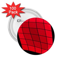 Red abstraction 2.25  Buttons (100 pack)