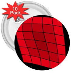 Red abstraction 3  Buttons (10 pack)