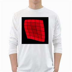 Red abstraction White Long Sleeve T-Shirts