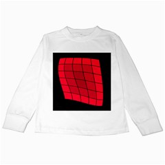 Red abstraction Kids Long Sleeve T-Shirts