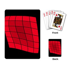 Red abstraction Playing Card