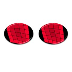 Red abstraction Cufflinks (Oval)
