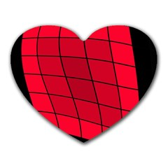 Red abstraction Heart Mousepads