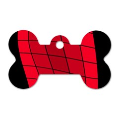 Red abstraction Dog Tag Bone (Two Sides)