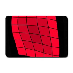 Red abstraction Small Doormat