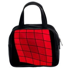 Red abstraction Classic Handbags (2 Sides)