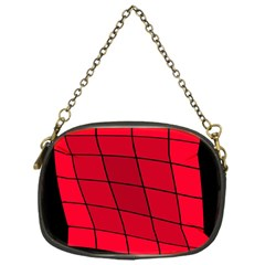 Red abstraction Chain Purses (One Side)