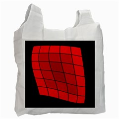 Red abstraction Recycle Bag (Two Side)